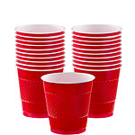 Red Cups - 266ml Plastic Party Cups