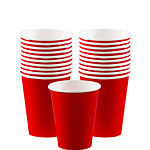 Red Cups - 266ml Paper Party Cups