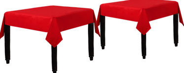 Red Tablecover - Paper - 90cm x 90cm