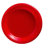 Red Plates - 23cm Plastic Party Plates