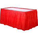 Red Plastic Tableskirt - 73cm
