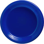 Royal Blue Serving Plates - 26cm Plastic Party Plates