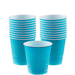 Turquoise - 266ml Plastic Party Cups