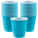Turquoise Cups - 473ml Plastic Party Cups