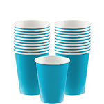 Turquoise - 266ml Paper Party Cups