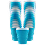 Turquoise - 473ml Plastic Party Cups