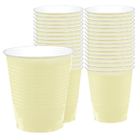 Vanilla Ivory Cups - 355ml Plastic Party Cups