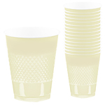 Vanilla Ivory Cups - 473ml Plastic Party Cups