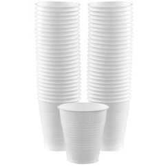 White Cups - 473ml Plastic Party Cups
