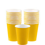 Yellow Cups - 266ml Paper Party Cups