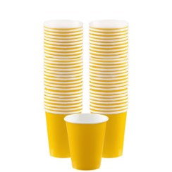 Yellow Coffee Cups - 340ml Paper Cups