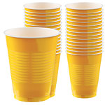 Yellow Cups - 473ml Plastic Party Cups