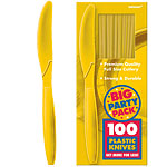 Yellow Plastic Knives