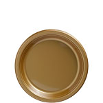 Gold Dessert Plates - 17cm Plastic Party Plates