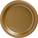 Gold Serving Plates - 26cm Plastic Party Plates