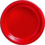 Red Plates - 26cm Plastic Party Plates