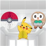 Pokémon Honeycomb Hanging Decorations - 23cm