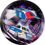 Police Plates - 23cm Paper Party Plates