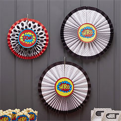Pop Art Superhero Hanging Fans