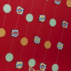 Pop Art Superhero String Decorations - 2m