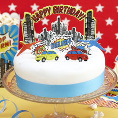 Pop Art Superhero Cake Decoration Kit