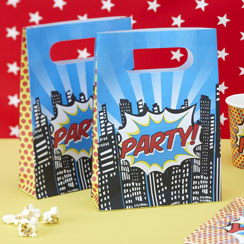 Pop Art Superhero Party Bags - Plastic Loot Bags
