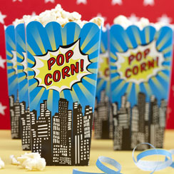 Pop Art Superhero Popcorn Boxes - 16cm