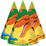 Prehistoric Party Cone Hats