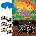 Prehistoric Party Pin The Dinosaur Skull Game