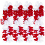 England Red & White Hawaiian Leis Pack