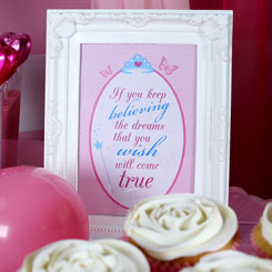 Framed Princess Quote Princess Candy Buffet Ideas Party Delights