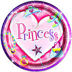 Prismatic Princess Paper Prismatic Plates 23cm