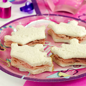 Princess Party Food Ideas Crown Sandwiches