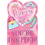 Prismatic Princess Invitations