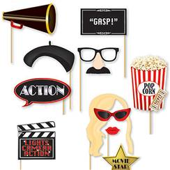 Hollywood Photo Booth Props