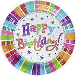 Happy Birthday Plates - 23cm Paper Party Plates