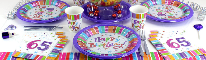 Radiant 65th birthday party supplies party delights for 65th birthday party decoration ideas