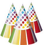 Rainbow Party Cone Party Hats