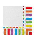 Rainbow Party Luncheon Napkins - 2ply Paper