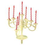 Candelabra Cake Decoration - Ivory