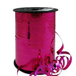 Hot Pink Holographic Curling Balloon Ribbon - 228m