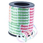 Happy Birthday Curling Balloon Ribbon - 68.5m