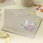 Rock-a-Bye-Baby 1st Birthday - 33cm Paper Party Napkins