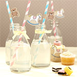 Rock A Bye Baby Party Supplies Paper Straws