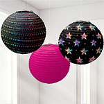 70's Disco Fever Paper Lanterns - 24cm