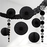 Black Damask Decorating Kit