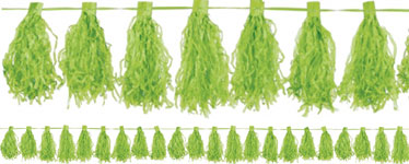 Lime Green Tassel Garland Decoration - 3m