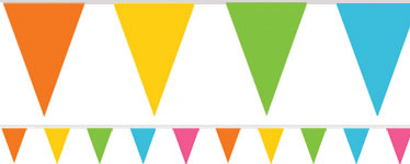 Multi Coloured Paper Bunting - 4.5m