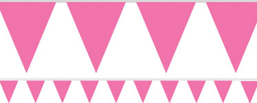 Pink Bunting - 4.5m Paper