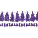 Purple Tassel Garland Decoration - 3m